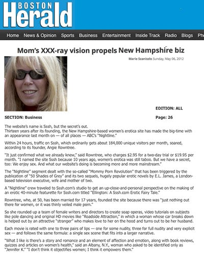 Boston Herald - Mommy Porn in New England.
