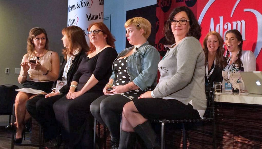 Women in Porn Debate with Panelists included Penthouse Managing Director Kelly Holland, sex educator/writer Elle Chase, director/performer Courtney Trouble and attorney Karen Tynan. The debate was moderated by Dr. Chautelle Tibbals.